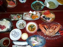 カニ付夕食例