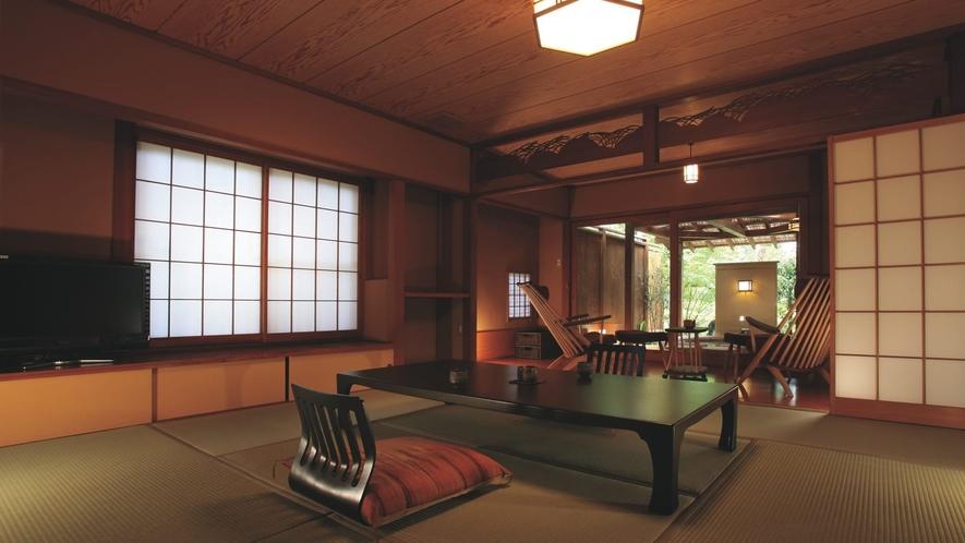 鶯宿◆専用の露天風呂を備えた広縁付きの離れ和室