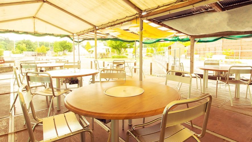 【夏季限定-BBQコース-】屋根付きのため、天候を気にせず、密を避けてお気軽にご利用いただけます!
