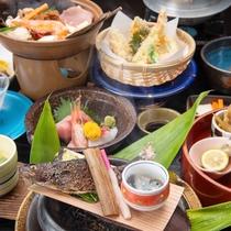 *【夕食:料理長お薦めコース】地産の川魚などを用いた、ここでしか味わえないごちそう