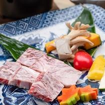 *【夕食:前沢牛コース】ステーキ/しゃぶしゃぶ/すき焼きの中からお好みの調理法をお選びください