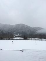 本年度初の本格的な雪