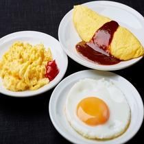◆エッグコートでは焼きたての卵料理を目の前でお作りします!