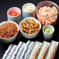 ◆祭り寿司には ままかり、えび、かまぼこ、穴子、すばす、ちりめん山椒などお好きなものを♪