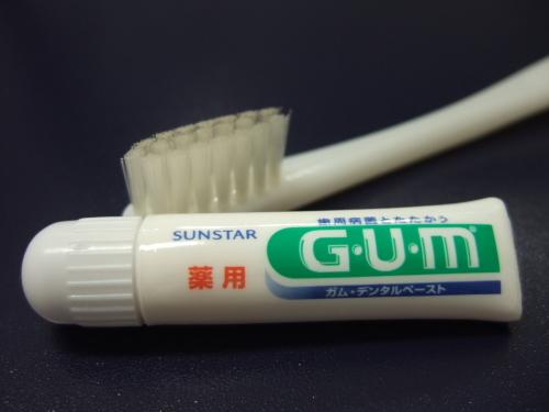 歯磨き粉は『GUM』をご用意