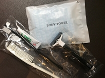 歯ブラシ・ひげそり・ボディタオル・くしはお部屋にご用意しております