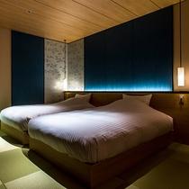 特別フロア『たいしょ』7階 展望温泉風呂付客室(寝室)
