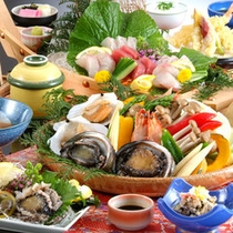 【春】海鮮あわび会席