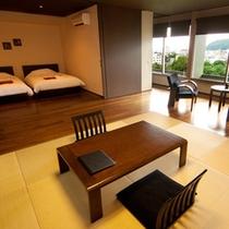 【プレミアムルーム】琉球畳とフローリングの和洋室
