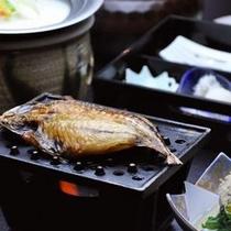 【朝食】鯵の干物