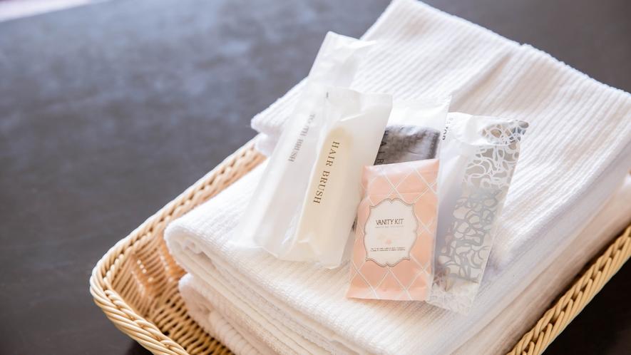 *【アメニティ】各種タオル、歯ブラシセット、ブラシ、綿棒、剃刀など