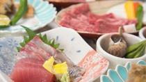 *【国産牛御膳のお料理一例】国産牛だけでなく、淡路島ならではの海の幸も楽しめます。
