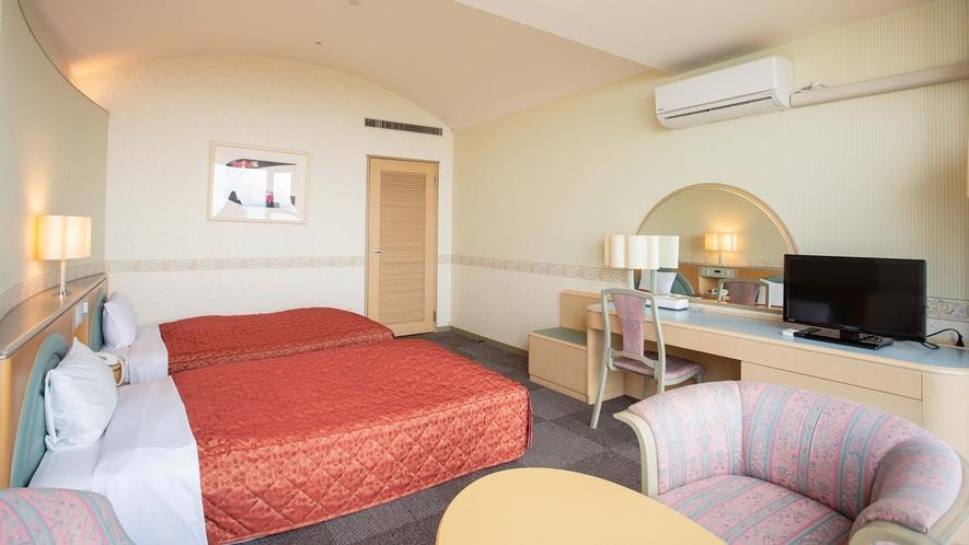 *【ツインルーム】32平米の広々としたお部屋でゆったりとお過ごしいただけます。