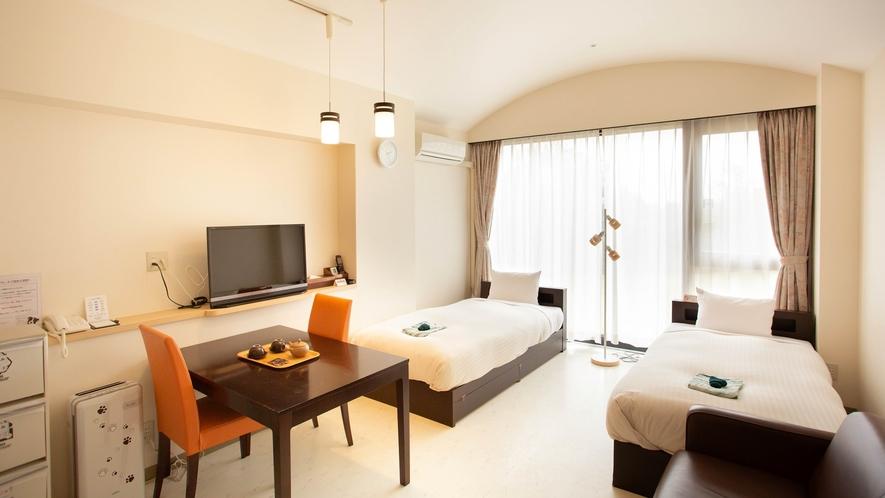 *【ドッグルーム】ワンちゃん同宿可能なお部屋。キッチン付ですのでお部屋で食事できます。