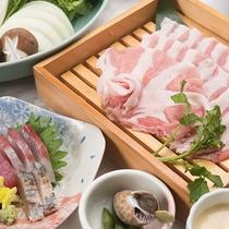 *【えびすもち豚しゃぶしゃぶ】飼育にこだわった、淡路島のブランド豚をしゃぶしゃぶで味わってください。