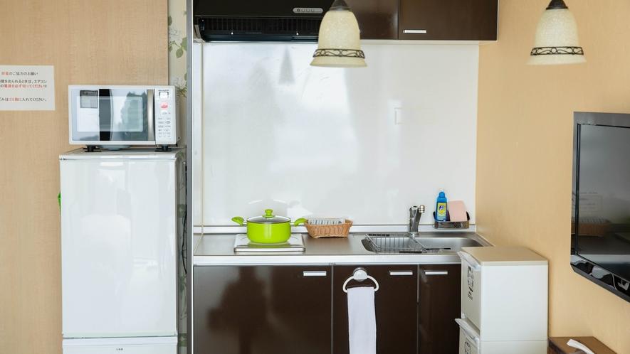 *【コンドミニアムルーム】冷蔵庫、電子レンジもございます。