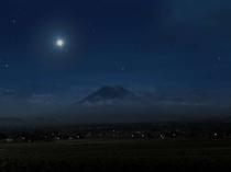 夜の羊蹄山 運が良ければ満点の星空が