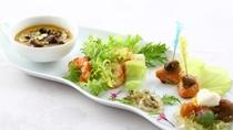 フレンチ料理 前菜一例 季節の食材を彩り豊かに