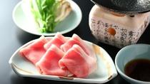 気軽に楽しめ人気の信州山里御膳 【長野県産豚しゃぶしゃぶ】