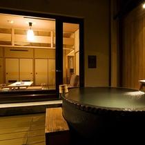 【富士見台/露天風呂付和室】陶器タイプの露天風呂(一例)