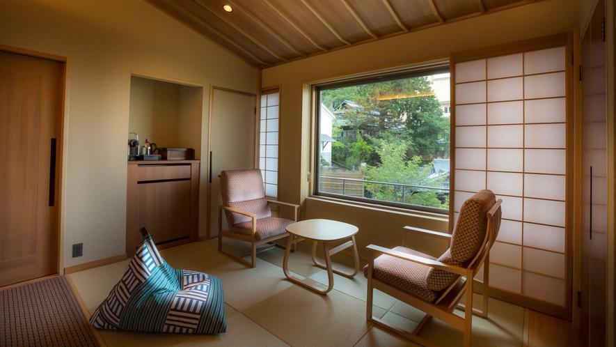 【山翠閣/専有露天風呂付和洋室B】日本庭園を眺めながら、ごゆっくりとおこもりステイを満喫