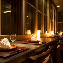 【メインダイニング・けやき】個室席やカウンター席で讃岐の食を堪能