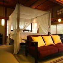 【数寄屋造り離れ/泉亭】ホテルのように寛げる室内