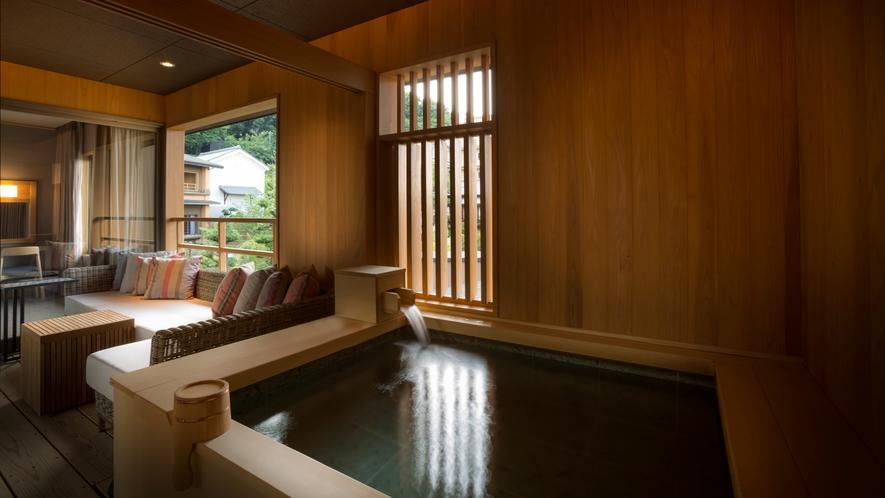 【山翠閣/専有露天風呂付和洋室A】日本庭園を眺めながら贅沢な温泉時間を