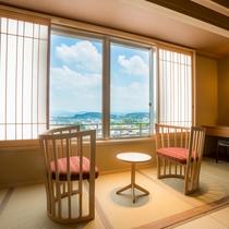 【富士見台/和洋特別室】琉球畳のツインルーム