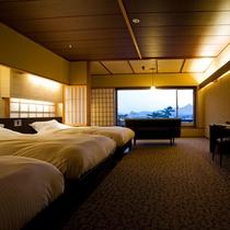 【松月テラス/トリプル】松月テラスの角部屋に位置する客室