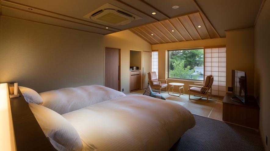 【山翠閣/専有露天風呂付和洋室B】日本庭園を満喫できる特別客室