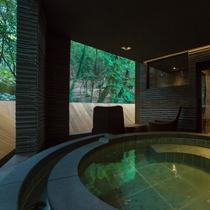 【貸切露天風呂杜の湯】2019年7月別館・山翠閣に完成した貸切風呂