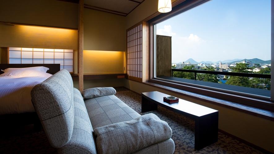 讃岐平野を望む松月テラス