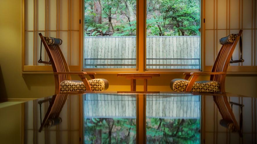 【富士見台/和室(琴平山側)】琴平山の緑が目の前に(一例)