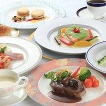 洋食コース料理の一例