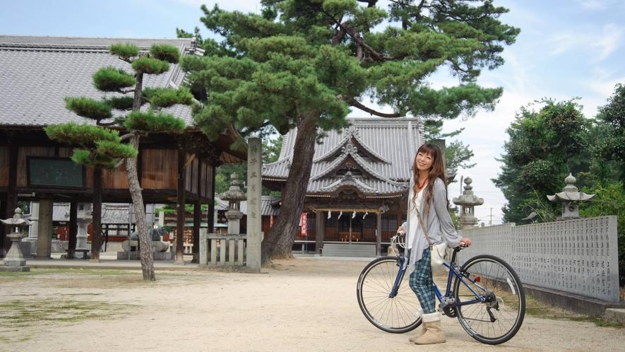 網敷神社まで朝チャリ散歩しませんか?