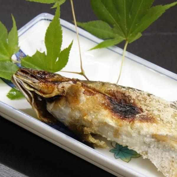 川魚の塩焼き