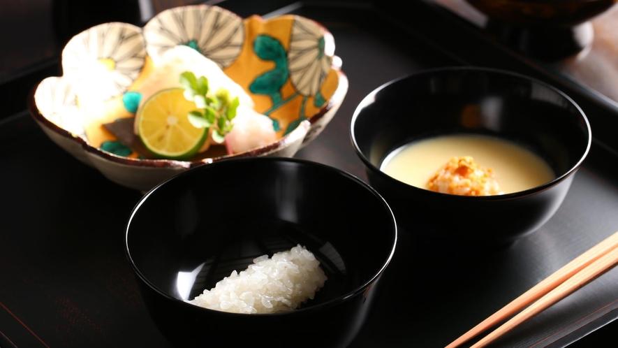 茶料理 一例「一汁三菜」