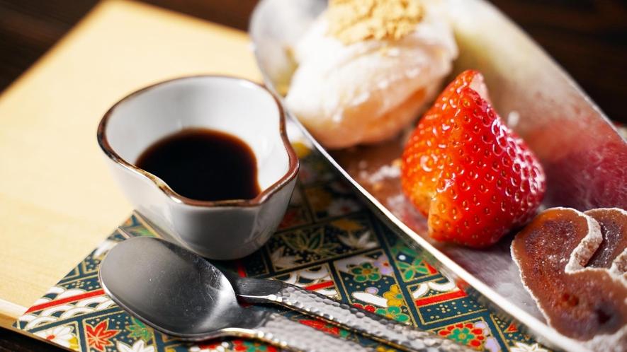 茶料理 一例「水菓子」