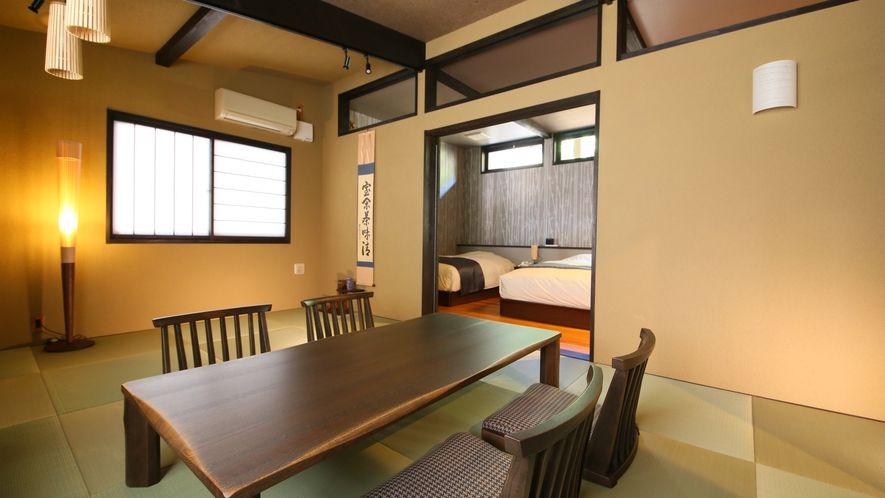 別邸 離れ【露天風呂/和室12畳+ツイン】一例