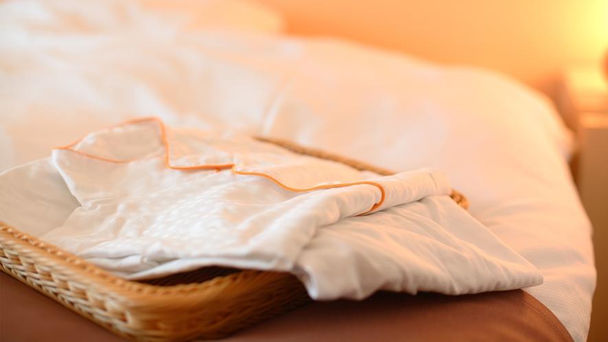 お部屋着は、柔らかくて着心地のよいパジャマです。各種サイズをご用意しております。