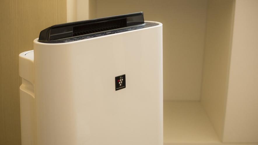 【デラックスルーム専用品】空気清浄機も、デラックスルームなら常設。女性やお子様も安心。