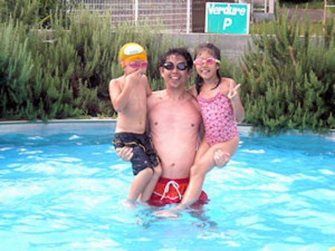 夏家族プール