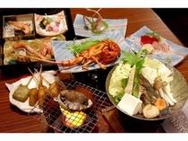 ■夕食:アワビ&金目鯛と豪華なメニューも新鮮!