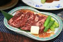 牛ハラミ陶板焼き