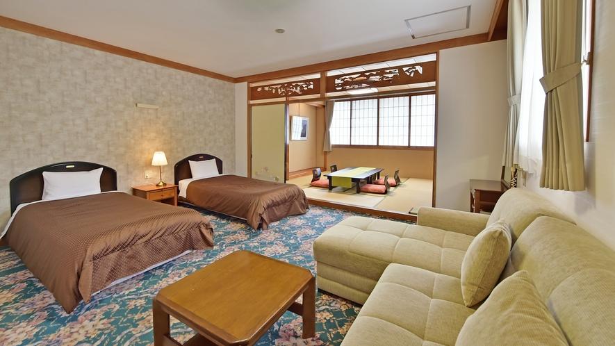 和洋室[2ベッド+8畳]の一例