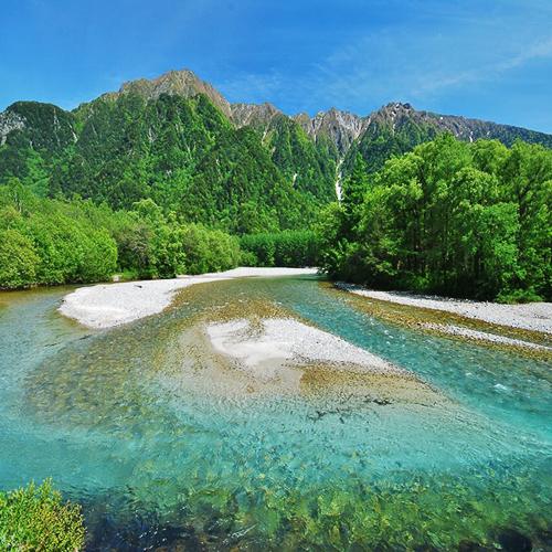 初夏の梓川