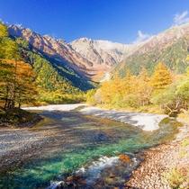 河童橋からの眺め(秋)
