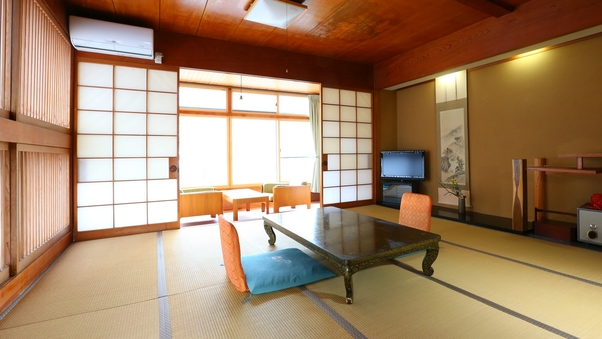 【温玉荘・和室12.5畳】松川渓谷を望む純和風客室【禁煙】