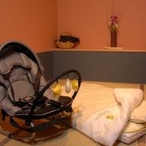 ◆バウンサーと赤ちゃん用のお布団もご用意いたします